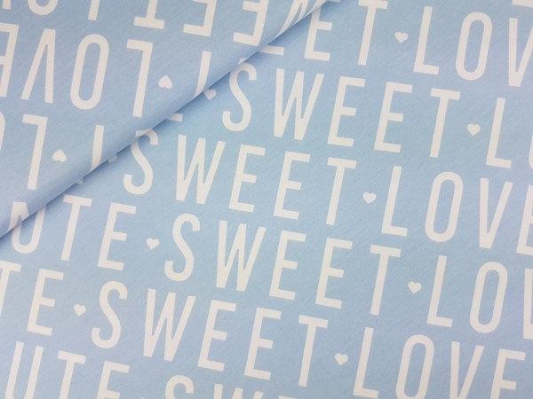 Sweat Sweet Love Cute hellblau