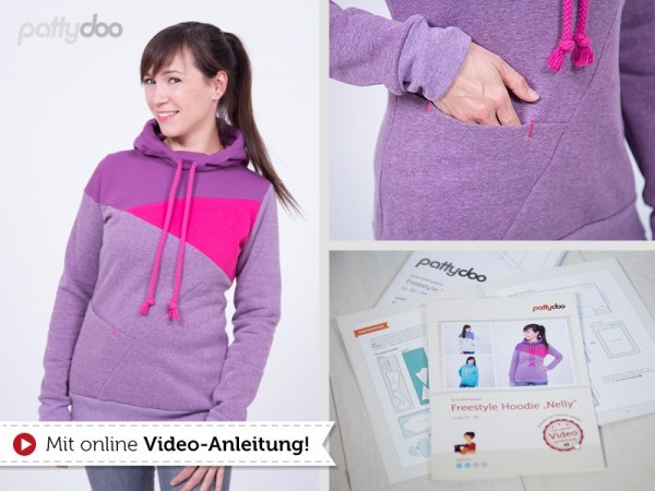 Schnittmuster pattydoo Freestyle Hoodie Nelly