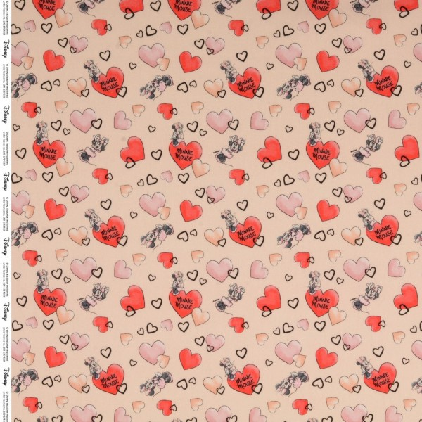 Baumwolle Popeline Minnie Mouse in apricot