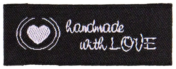 handmade with love schwarz